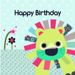 Happy Birthday Card - Lion